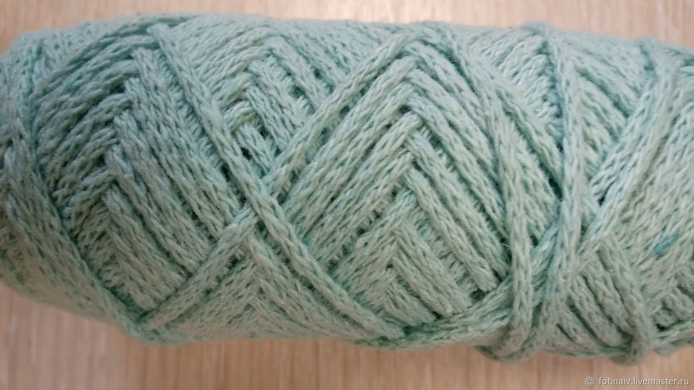 Cotton cord 2mm. Mint, Yarn, Petrozavodsk,  Фото №1