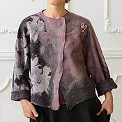 """Одежда ручной работы. Ярмарка Мастеров - ручная работа Жакет валяный двухсторонний """"Королева Орхидей"""". Handmade."""