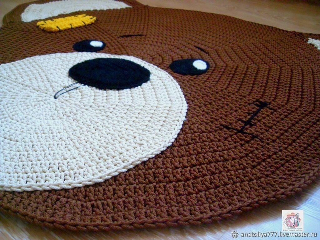 Children's rug, knotted cord Teddy Bear, Floor mats, Kabardinka,  Фото №1