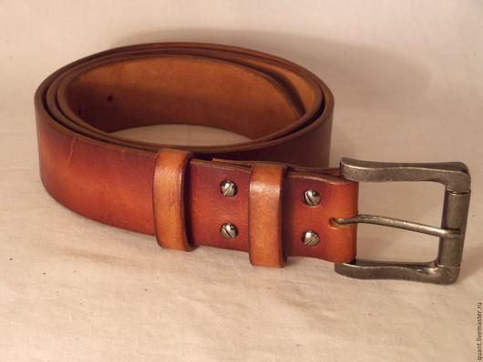 Пояса, ремни ручной работы. Ярмарка Мастеров - ручная работа. Купить ремень кожаный. Handmade. Черный, ремень для джинсов