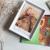 Открытки ручной работы. Ярмарка Мастеров - ручная работа У весны зеленое сердце - набор коллекционных открыток. Handmade.