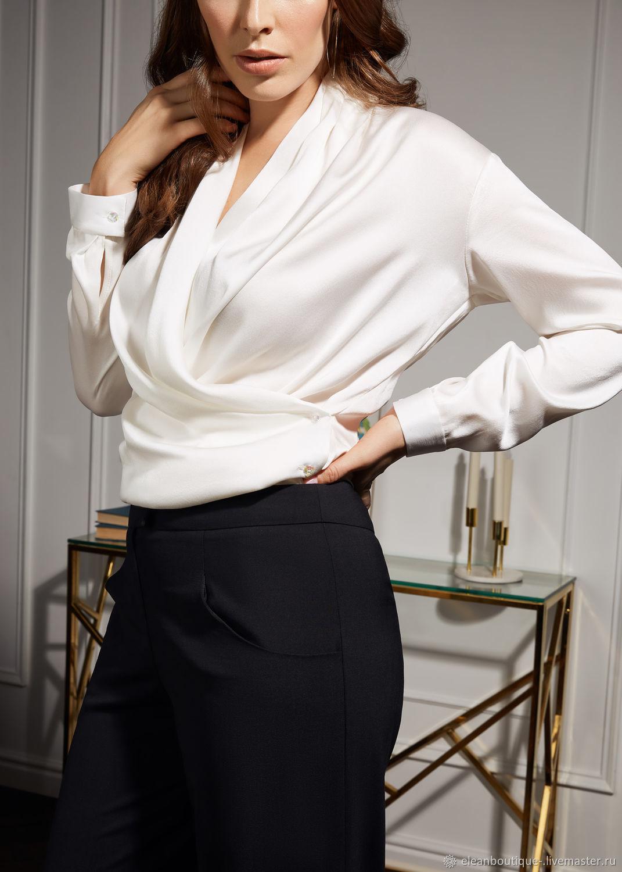 3a8e6a82388 Блузки ручной работы. Ярмарка Мастеров - ручная работа. Купить Блуза-кимоно  из натурального ...