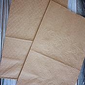 Материалы для творчества handmade. Livemaster - original item Kraft bag with embossed. Handmade.