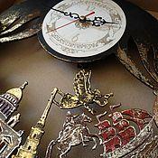 Для дома и интерьера ручной работы. Ярмарка Мастеров - ручная работа Часы настенные город Санкт-Петербург, часы город, часы маятник. Handmade.