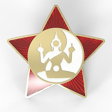 Decorations handmade. Livemaster - original item Gold star badge with enamel. Handmade.