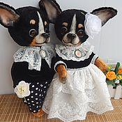 Куклы и игрушки ручной работы. Ярмарка Мастеров - ручная работа Собачки тедди .Поль и Пинки 2. Handmade.