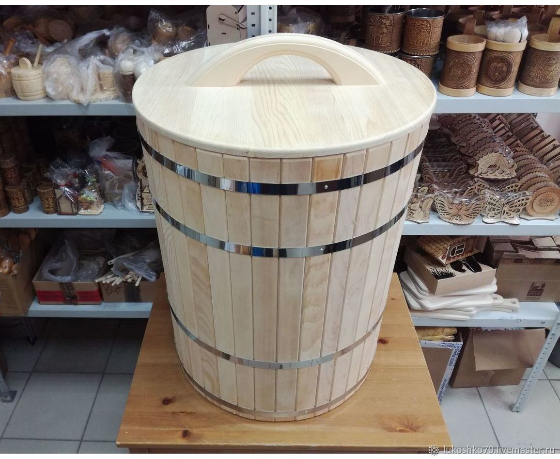 Cedar tub 100 l. For water and salting, Cooperage, Tomsk,  Фото №1