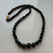 Винтаж handmade. Livemaster - original item Vintage necklace Black Beads Czech Glass Neck Decoration Choker. Handmade.