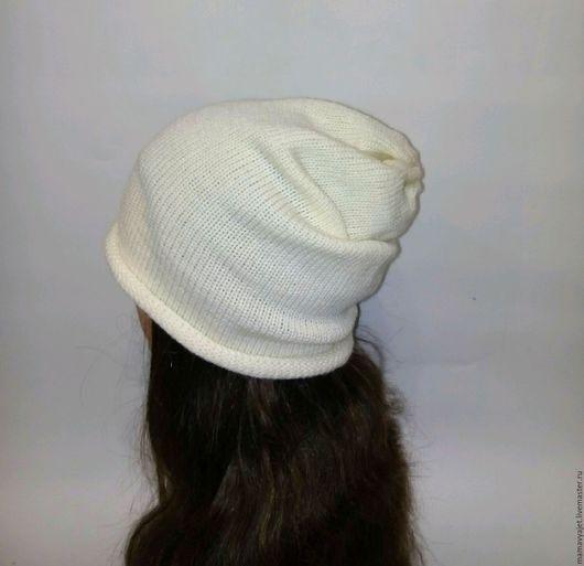 Шапки ручной работы. Ярмарка Мастеров - ручная работа. Купить вязаная шапка бини, шапка чулок, хулиганская шапка унисекс, удлиненная. Handmade.