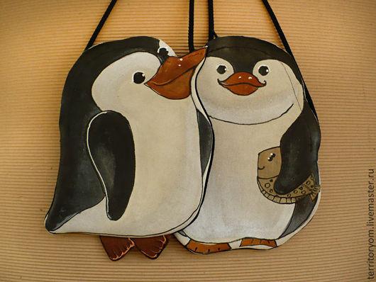 Женские сумки ручной работы. Ярмарка Мастеров - ручная работа. Купить Сумочка-кармашек Пин-пингвины. Handmade. Сумка, пингвиненок