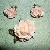 """Винтаж ручной работы. Ярмарка Мастеров - ручная работа Деми-парюра,комплект """"Нежные розы"""".. Handmade."""