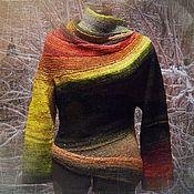 """Одежда ручной работы. Ярмарка Мастеров - ручная работа От заката до рассвета. """"Кривой"""" свитер Стивена Веста. Handmade."""