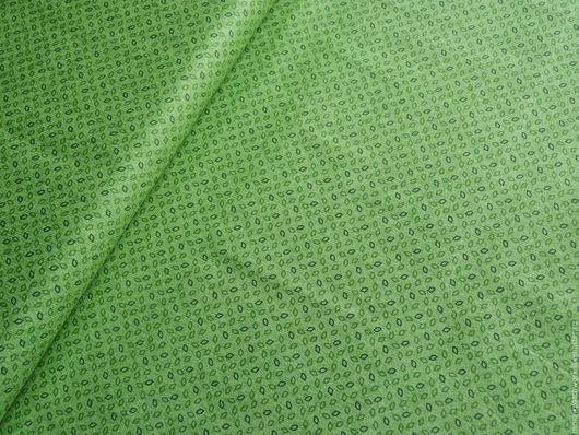 """Шитье ручной работы. Ярмарка Мастеров - ручная работа. Купить Хлопок. Ткань для пэчворка. Корея. """"Зеленый с рисунком"""". Handmade. Зеленый"""