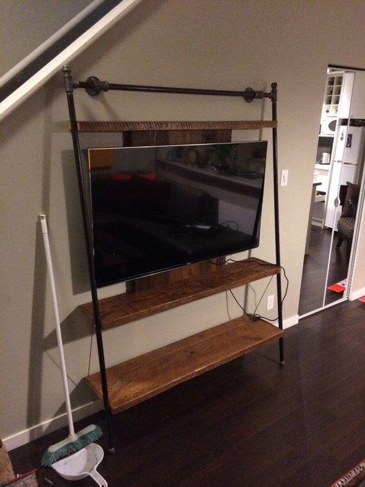 Мебель ручной работы. Ярмарка Мастеров - ручная работа. Купить Необычный стеллаж под телевизор. Handmade. Полка из дерева, стеллаж