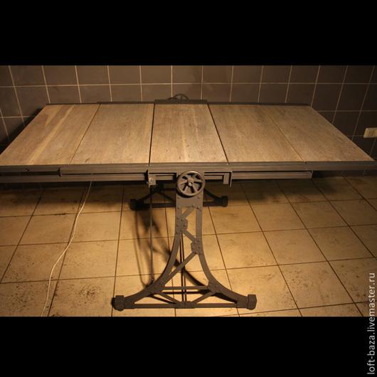 Мебель ручной работы. Ярмарка Мастеров - ручная работа. Купить Стол-стеллаж трансформер в стиле Лофт. Handmade. Коричневый, лофт