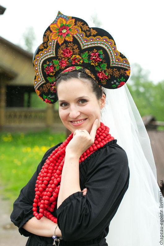 Шляпы ручной работы. Ярмарка Мастеров - ручная работа. Купить Кокошник для невесты. Handmade. Шляпка, шляпка для скачек, кокошник, невеста