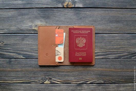 Обложки ручной работы. Ярмарка Мастеров - ручная работа. Купить Обложка для паспорта. Handmade. Коричневый, организация документов, обложка для документов