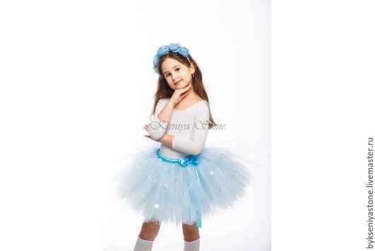 Юбка-снежинка голубая, Ксения 8-926-83-65-887 WhatsApp/Viber/sms