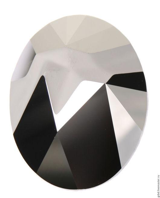 Для украшений ручной работы. Ярмарка Мастеров - ручная работа. Купить Kaputt Oval Light Chrome. Handmade. Серебряный