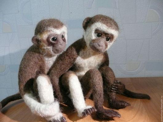 Подарки для влюбленных ручной работы. Ярмарка Мастеров - ручная работа. Купить Влюбленная пара-  обезьянки ЛОЛА и ТЬЕРРИ. Уехали в Италию. Handmade.
