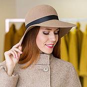 Аксессуары handmade. Livemaster - original item Wide-brimmed hat