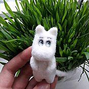 Украшения handmade. Livemaster - original item Mummy Troll brooch made of wool. Handmade.