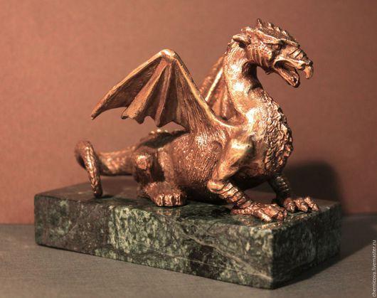 Статуэтки ручной работы. Ярмарка Мастеров - ручная работа. Купить Дракон. Handmade. Скульптура из бронзы, статуэтки из металла, дракон, черный