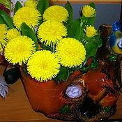 Цветы и флористика ручной работы. Ярмарка Мастеров - ручная работа Одуванчики - керамическая флористика. Handmade.