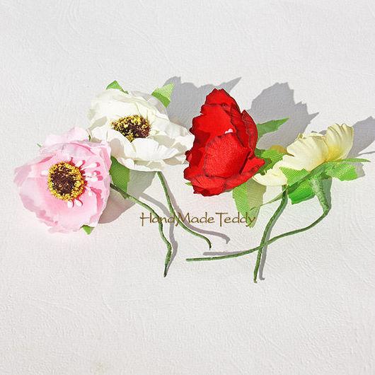 Куклы и игрушки ручной работы. Ярмарка Мастеров - ручная работа. Купить Цветы декоративные. Handmade. Бледно-розовый, цветы из ткани