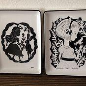 """Посуда ручной работы. Ярмарка Мастеров - ручная работа Тарелка """"Алиса в Зазеркалье"""". Handmade."""