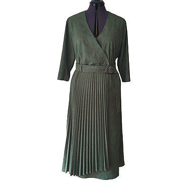 Одежда ручной работы. Ярмарка Мастеров - ручная работа Платье из замши. Handmade.