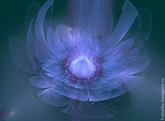 Вариант `Голубая хризантема`, фон цвета морской волны. Мини-версия. Другой цвет фона на заказ. Оригинал 3800х2600, 22 Мб в png, готовая работа. Цена 3500 руб., без рамы