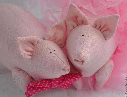 Куклы Тильды ручной работы. Ярмарка Мастеров - ручная работа. Купить Свинка Тильда. Handmade. Розовый, поросята, лён