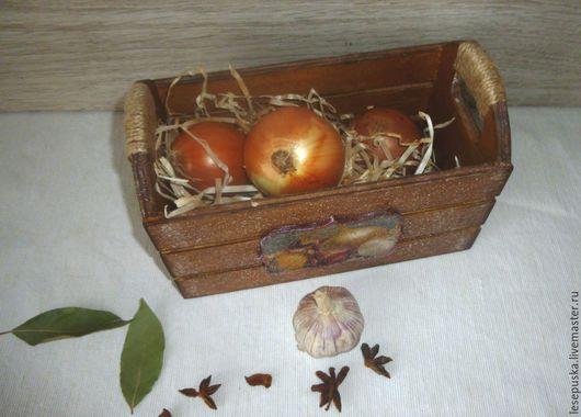 Кухня ручной работы. Ярмарка Мастеров - ручная работа. Купить Ящик для хранения  овощей и фруктов. Handmade. Коричневый, деревянная заготовка