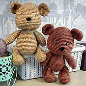 Мягкие игрушки ручной работы. Ярмарка Мастеров - ручная работа Медвежонок вязанный, малыш. Handmade.