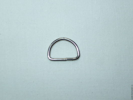 Шитье ручной работы. Ярмарка Мастеров - ручная работа. Купить Полукольцо 15 мм, металл, никель. Handmade. Темно-серый
