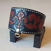 Для домашних животных, handmade. Livemaster - original item Collar-herring for dogs of genuine leather. Handmade.