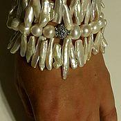 Украшения ручной работы. Ярмарка Мастеров - ручная работа Многорядный жемчужный браслет. Handmade.
