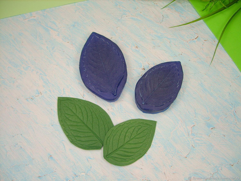 М259-М260 Молд лист мяты большой и малый реалистичный, Молды, Щелково,  Фото №1
