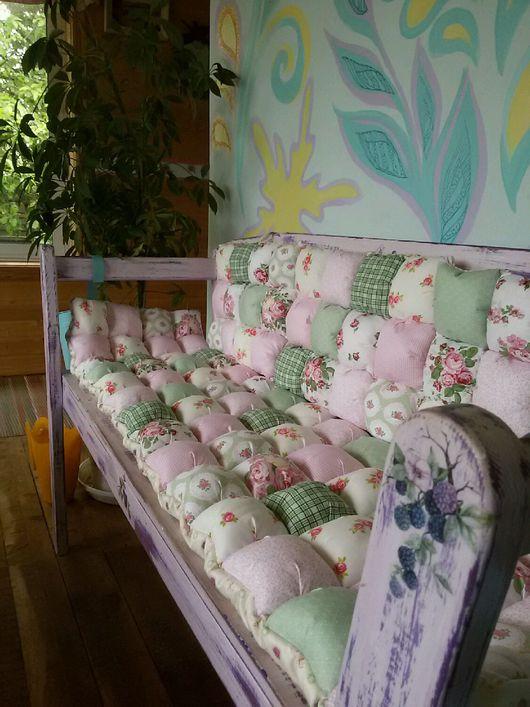 Экстерьер и дача ручной работы. Ярмарка Мастеров - ручная работа. Купить Матрасик и подушки-сидушки для уютного дома. Handmade.