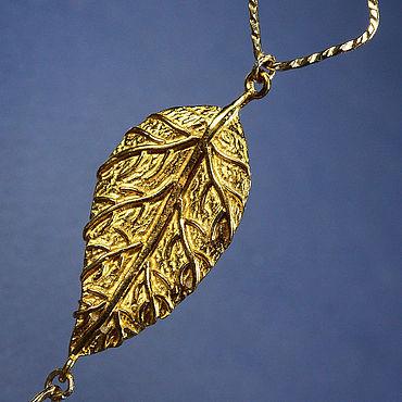 Украшения ручной работы. Ярмарка Мастеров - ручная работа Моносерьга золотое покрытие голдфилд. Handmade.