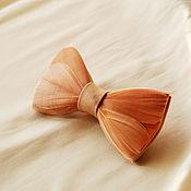 Аксессуары handmade. Livemaster - original item Bow tie with feathers of a goose. Handmade.