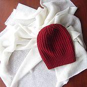 Аксессуары ручной работы. Ярмарка Мастеров - ручная работа шапка вязаная из мериноса. Handmade.