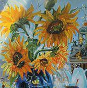 Картины и панно ручной работы. Ярмарка Мастеров - ручная работа Картина маслом Утренний чай 30 на 40 см. Handmade.