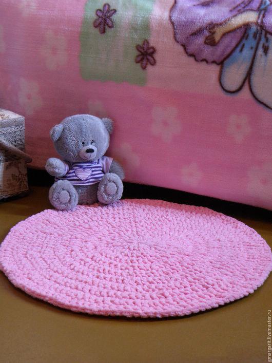 Детская ручной работы. Ярмарка Мастеров - ручная работа. Купить Коврик плюшевый прикроватный розовый. Handmade. Розовый, коврик в детскую