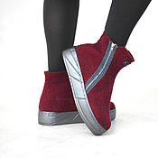 """Обувь ручной работы. Ярмарка Мастеров - ручная работа Ботинки из войлока """"Глинтвейн"""" 38 р.. Handmade."""