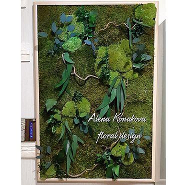 Дизайн и реклама ручной работы. Ярмарка Мастеров - ручная работа Панно из стабилизированных растений и мха Nature. Handmade.