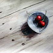Картины и панно ручной работы. Ярмарка Мастеров - ручная работа Две вишенки. Handmade.