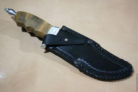 Оружие ручной работы. Ярмарка Мастеров - ручная работа. Купить ножны для охотничьего ножа. Handmade. Черный, натуральная кожа