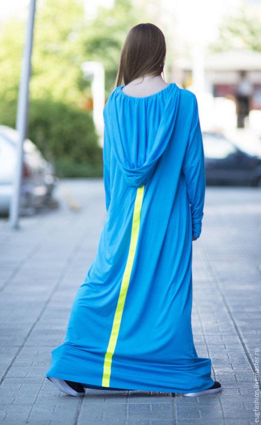 Платье, Длинное платье, Платье в пол, Платье с длинным рукавом, Платье с капюшоном, Платье на каждый день, Модная одежда ЕУГ